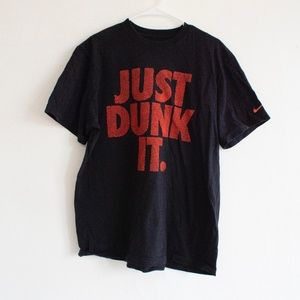 Men's Nike Just Dunk It T-shirt black orange XXL